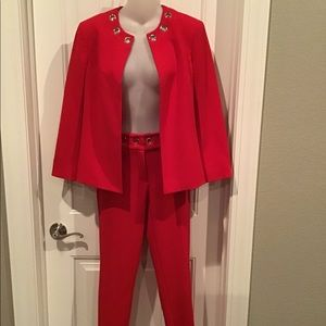 Beautiful Red Anne Klein Suit NWT